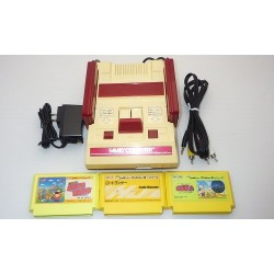 Nintendo Famicom AV Mod C Grade - 5 Items Set + 3 Games Set A