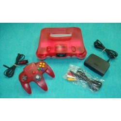 Nintendo 64 Clear Red - 4 Items Set