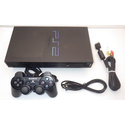 Sony Playstation 2 Black - 4 Items Set (SCPH-50000)