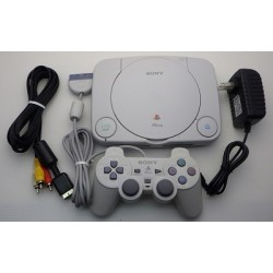 Sony PSone - 4 Items Set (Gray Controller)
