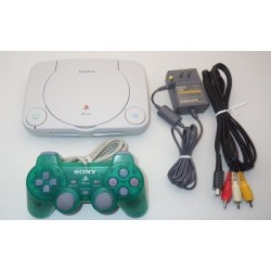 Sony PSone - 4 Items Set (Green Controller)