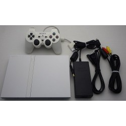 Sony Playstation 2 Blanc - Set 5 Articles (SCPH-75000)