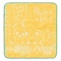 Hand Towel Pikachu in the forest Yellow japan plush