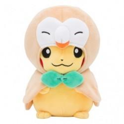 Plush Rowlet Poncho Pikachu