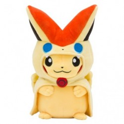Plush Victini Poncho Pikachu