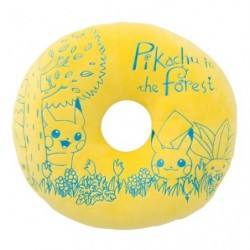 Mochi Mochi Donuts Cushion Pikachu in the forest japan plush