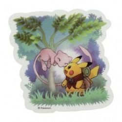 Sticker PIKACHU and MEW Pikachu Adventure japan plush