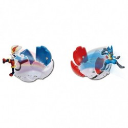 Moncolle Figurine Poke Out Lucario VS Pyrobut japan plush