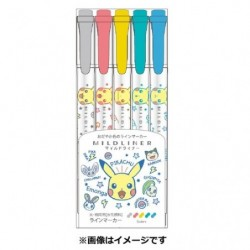 Pen Mildliner Set 5 Colors A japan plush