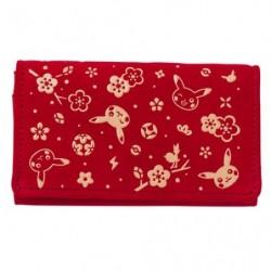 Koshu Card Case Red japan plush
