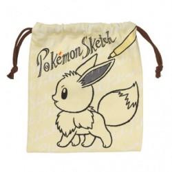Pocket Bag Pokemon Sketch Eevee japan plush
