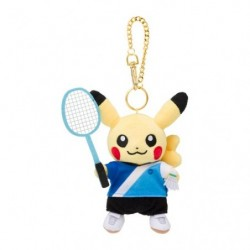 Plush Keychain Pikachu Pokémon SPORTS Badminton japan plush