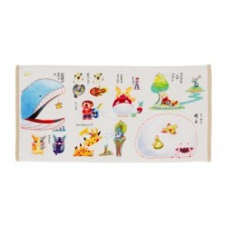 Mini Bath Towel Janai Pokemon-Tachi japan plush