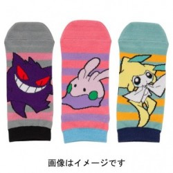 Chaussette Courte 3x Set POKEMON POP japan plush