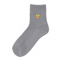 Socks Pikachu Grey 23-25cm japan plush