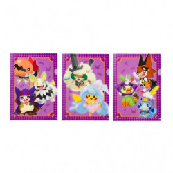 Clear File A4 Halloween Galar Garden x3 Set japan plush