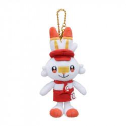 Plush Keychain Scorbunny Pokemon Cafe Limited Edition