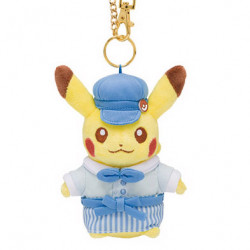 Peluche Porte Cle Pikachu Bleu Pokemon Cafe Limited Edition japan plush