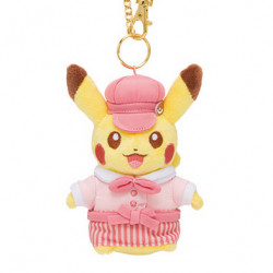 Peluche Porte Cle Pikachu Rose Pokemon Cafe Limited Edition japan plush