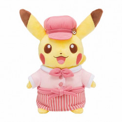 Plush Pikachu Pink Pokemon Cafe Limited Edition