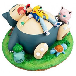 Figure Pokemon Snorlax and Good Night G.E.M. Series