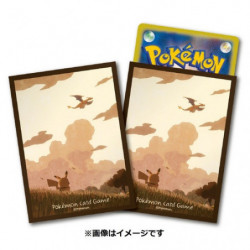 Card Sleeves Pikachu & Sky japan plush