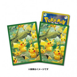 Card Sleeves Pikachu no Mori japan plush