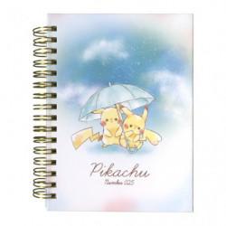 Cahier Anneaux Pikachu number025 Parapluie japan plush