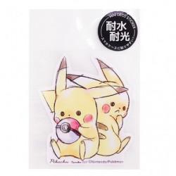 Sticker Pikachu number025 japan plush