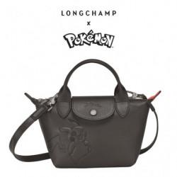 Handbag Longchamp x Pokemon Black japan plush