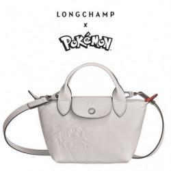 Mini Handbag Longchamp x Pokemon White japan plush