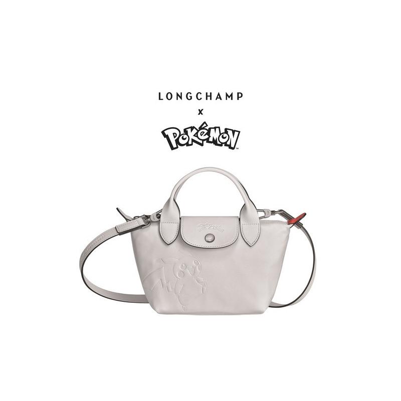 Mini Sac à Main Longchamp x Pokemon Blanc