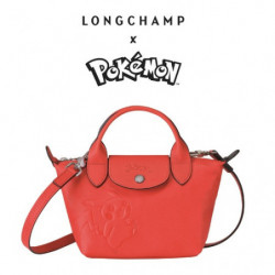 Mini Sac à Main Longchamp x Pokemon Rouge japan plush