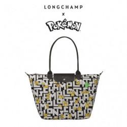 Shoulder Bag Longchamp x Pokemon Black and White japan plush