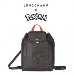 Backpack Longchamp x Pokemon Black japan plush