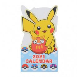 Carte de voeux calendrier Pikachu 2021 japan plush
