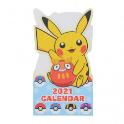 Greeting card Calendar Pikachu 2021