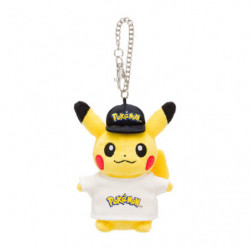 Plush Keychain Pikachu Logo japan plush