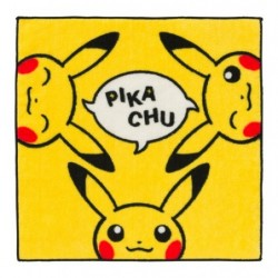 Hand Towel Pikachu Trio japan plush