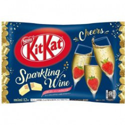 Kit Kat Sparkling Wine with Strawberries