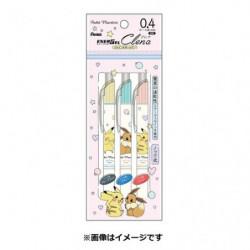 Pen Energel Set Pikachu and Eevee japan plush