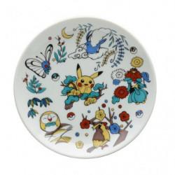 Round plate Kachou Fugestu Pokémon Center Kanazawa