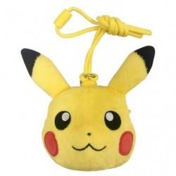 Wallet Face Pikachu japan plush