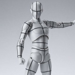 Figurine Body-kun Wireframe Gray Color Ver S.H.Figuarts