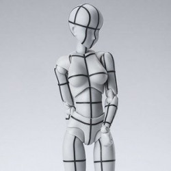 Figurine Body-chan Wireframe Gray Color Ver S.H.Figuarts