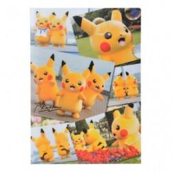 A4 Clear FIle 2x Set Pikachu japan plush