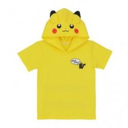 T Shirt Pikachu with Hood KIDS Size japan plush