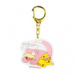Porte-clés Pikachu et Ramoloss Nakayoshi Friends