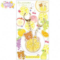 Pair Keychain Rilakkuma and Kiiroitori Fruits Relax