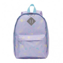 Backpack Pikapika School Pale Purple